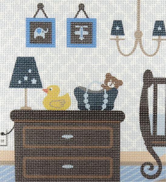 Needlepoint Canvas Baby Boy Nursery