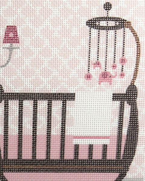 Needlepoint Canvas Baby Girl Nursery