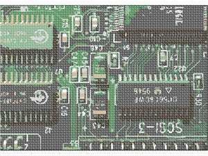 A silicone printed circuit board.
