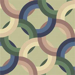 Pattern of rings in muted tones