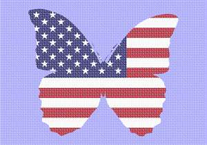 America is beautiful in a butterfly flag