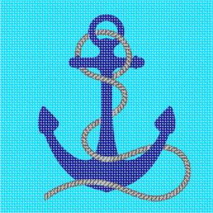Classic anchor in needlepoint
