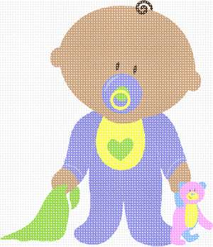 Don't know if it's a boy or girl? stitch this unisex baby for the nursery.