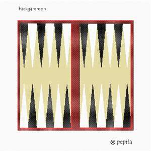 Pepita Needlepoints Backgammon Board pattern