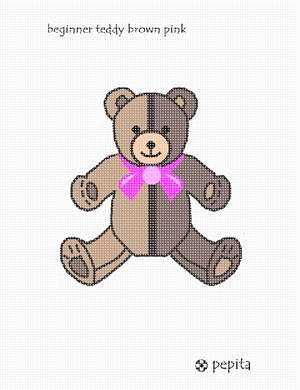 Needlepoint a teddy bear for a baby girl nursery.  Perfect for a baby shower or gift for the newborn.