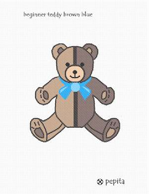 Needlepoint a teddy bear for a baby boy nursery.  Perfect for a baby shower or gift for the newborn.