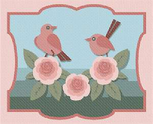 Whimsical birds and flowers