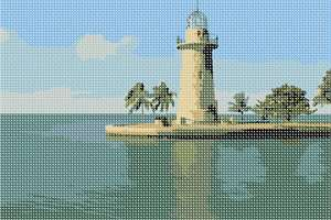 The Cape Florida Light is a lighthouse on Cape Florida at the south end of Key Biscayne in Miami-Dade County, Florida.