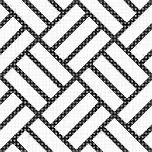 Black and white tiles on a diagonal