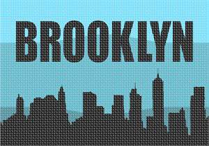 The Brooklyn skyline in needlepoint