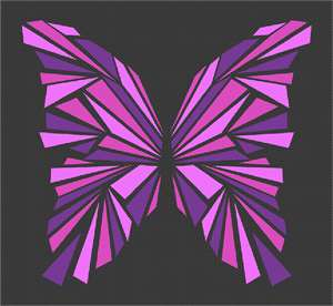Butterfly with geometric cutouts