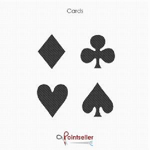 The four suits in playing cards.