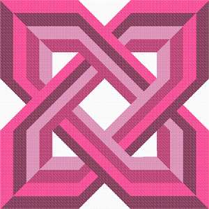 Celtic knot in pinks
