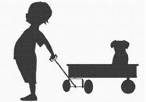 The child in each of us. This wagon should really be red. A silhouette (English: /ˌsɪluˈɛt/ SIL-oo-ET, French: [silwɛt]) is the image of a person, animal, object or scene represented as a solid shape of a single color, usually black, with its edges matching the outline of the subject.