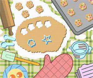 Stitch up a fresh batch of sugar cookies with this wonderful canvas.