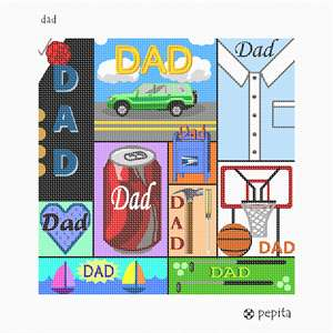 An ode to Fatherhood. Multi-sized tiles interlock to make a fine gift for Father's Day or any other occasion.