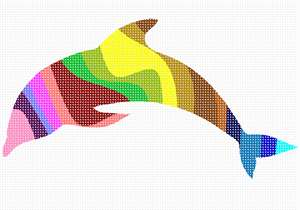 A colorful dolphin