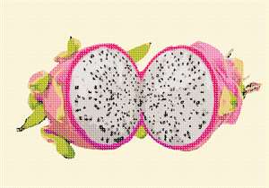 Stitch the queen of fruits - the dragon fruit. This rare and exotic fruit is a beauty.