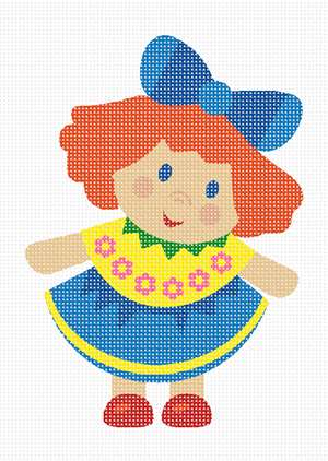 A perfect doll needlepoint for a beginner