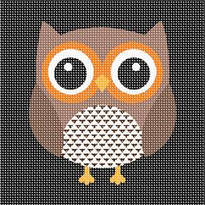 Simple owl for easy and fast stitching. Perfect for a beginner. There are around 200 different owl species. Owls are active at night (nocturnal). A group of owls is called a parliament. Most owls hunt insects, small mammals and other birds. Some owl species hunt fish. Owls have powerful talons (claws) which help them catch and kill prey. Owls have large eyes and a flat face. They don't have eyeballs.