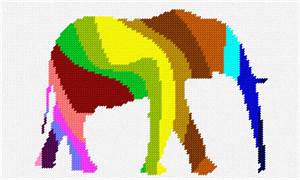 An elephant in color