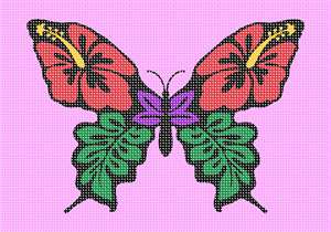 Tropical flowers in butterfly shape.  Butterflies are deep and powerful representations of life. Around the world, people view the butterfly as representing endurance, change, hope, and life.