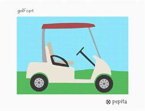 Stitch a golf cart for all golf lovers in your life.