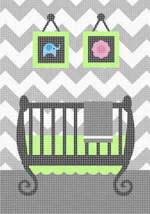 An updated baby room in grey and white chevron for any baby nursery be it boy or girl
