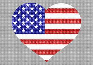 The American Flag of the USA - we show our love