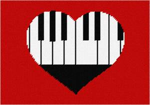 Piano and heart all in one