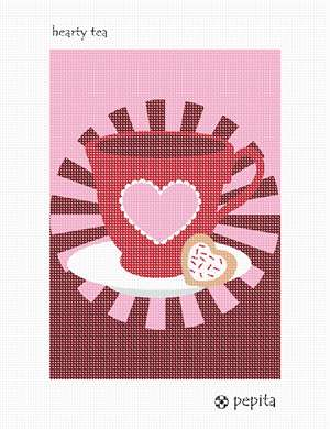 A heartfelt tea and cookie needlepoint treat.  Stitch for someone you love.