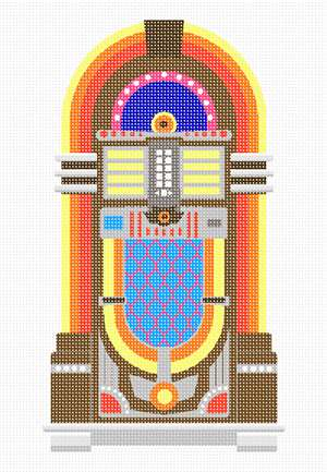 A jukebox in needlepoint.  For all you players out there.
