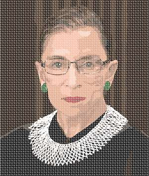 "Here's to the Associate Justice of the Supreme Court of the United States!  In honor and admiration of the ""Notorious RBG."""