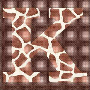 Alphabet in giraffe pattern. Giraffe 'fingerprints'