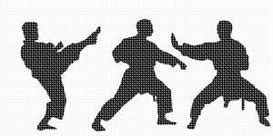 Martial Arts in needlepoint