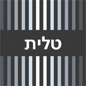 Geometrics are very vogue in tallit and tefillin bags today. And the ombre makes it even more interesting. You stitch the front. After it is completely stitched, it is sent to a professional finisher who adds a lining, back, and matching zipper.  See coordinating tefillin bag design.