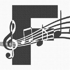 Alphabet initial for the music lover, musician, orchestra performer or aficionado