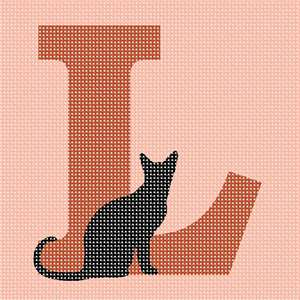 Cat on alphabet