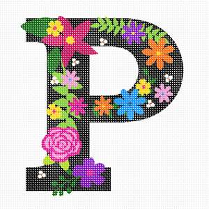 "The capital letter P sprouting bold and bright colorful flowers. About 100 languages use the same alphabet like in English which makes it one of the most widely used alphabets in the world. While some languages have a few more and others a few less, they all share the 23 core letters originally found in the Roman alphabet. The most commonly used letter is the letter E. The letter J was the most recent letter to be added to the alphabet, appearing in print as a distinct letter for the first time in 1633. A sentence which contains all 26 letters of the English alphabet is called a pangram. A famous pangram is: ""The quick brown fox jumps over the lazy dog."" but there are even shorter ones such as: ""Pack my box with five dozen liquor jugs."" Every letter of the alphabet has a wild, or at least interesting, story, often going back thousands of years. You can look it up on Wikipedia."