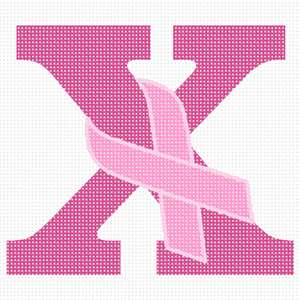 Help spread breast cancer awareness by stitching a ribbon of hope in the alphabet