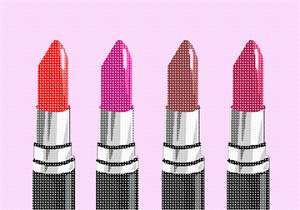 Which color lipstick will you wear today? Enjoy stitching this sophisticated posh design.