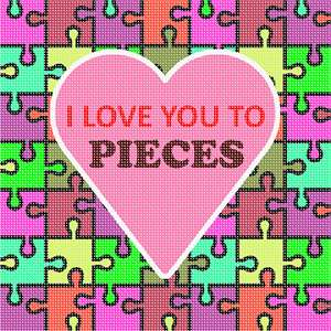 Needlepoint a romantic message with a cute play on words.
