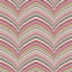 "Our brand new mauve collection is available in a multitude of stripes, florals, and trellis designs. Ideal for coordinating needlepoint pillows.  Bargello is a type of needlepoint embroidery consisting of upright flat stitches laid in a mathematical pattern to create motifs. The name originates from a series of chairs found in the Bargello palace in Florence, which have a ""flame stitch"" pattern.