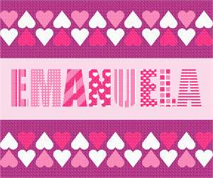 Customize a name in pinks with a heart theme.