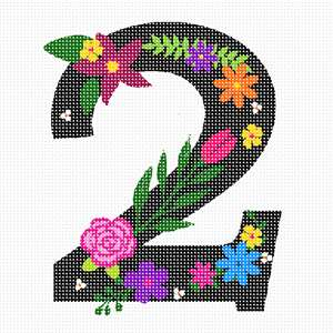Stitch your lucky number in bright, bold beautiful florals