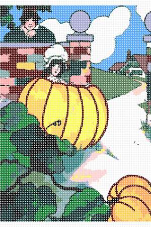 Peter, pumpkin eater, and his wife in her pumpkin shell.