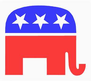 GOP elephant in honor of Election 2016