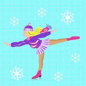 Ice skating evokes warm memories of actually skating on a frozen lake or rink, or watching skaters in the park.  Watching professional skaters is enthralling. Do you remember the Ice Capades in New York City?  That was something!