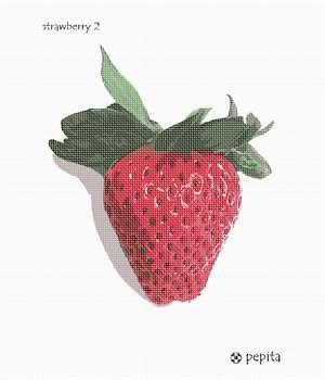 A luscious strawberry. The perfect adornment for your kitchen walls.