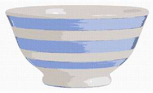 A ceramic bowl to match a blue kitchen